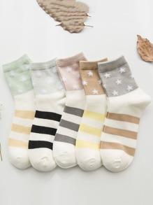 Striped Socks 5pairs
