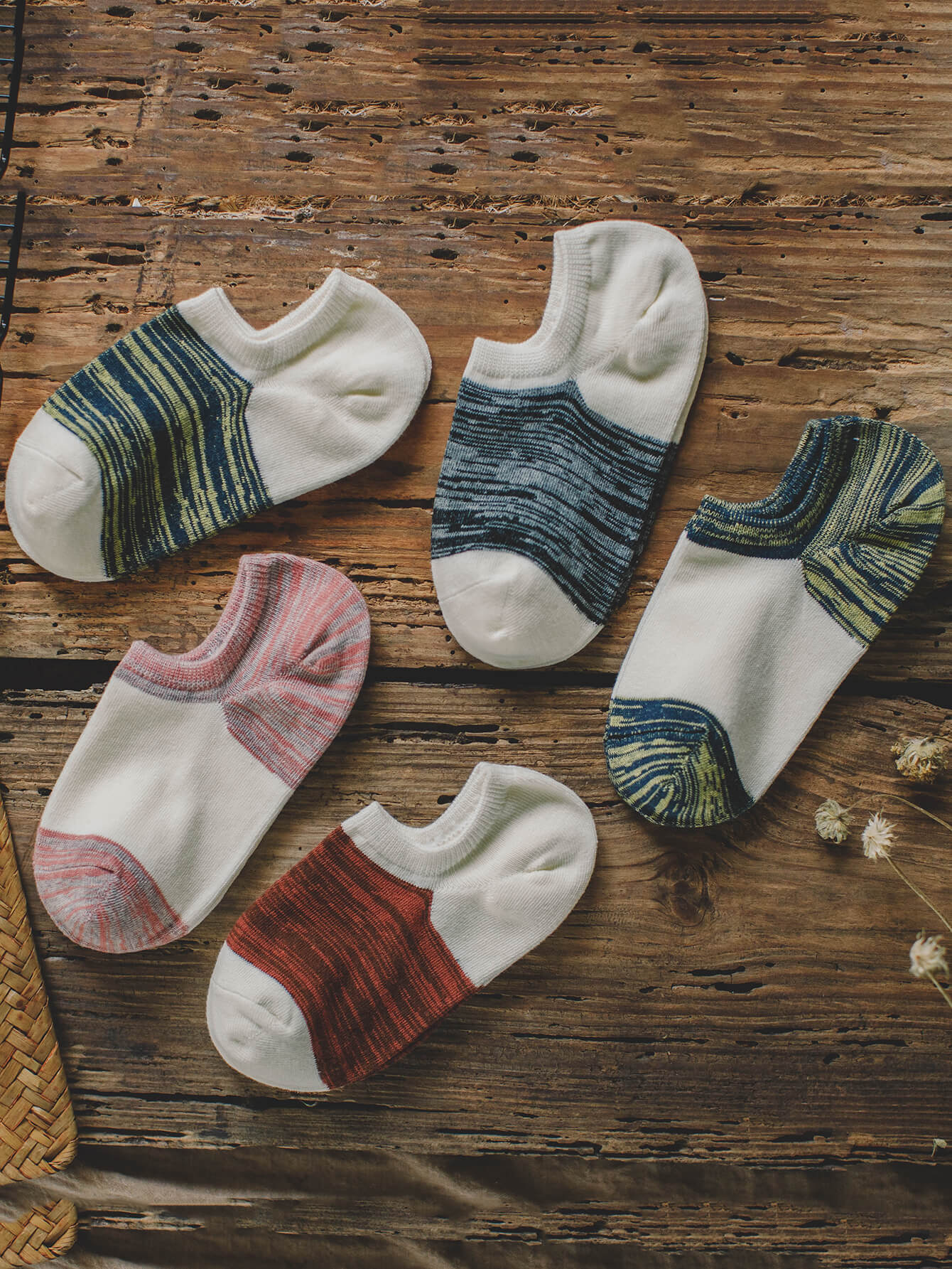 Space Dye Invisible Socks 5pairs