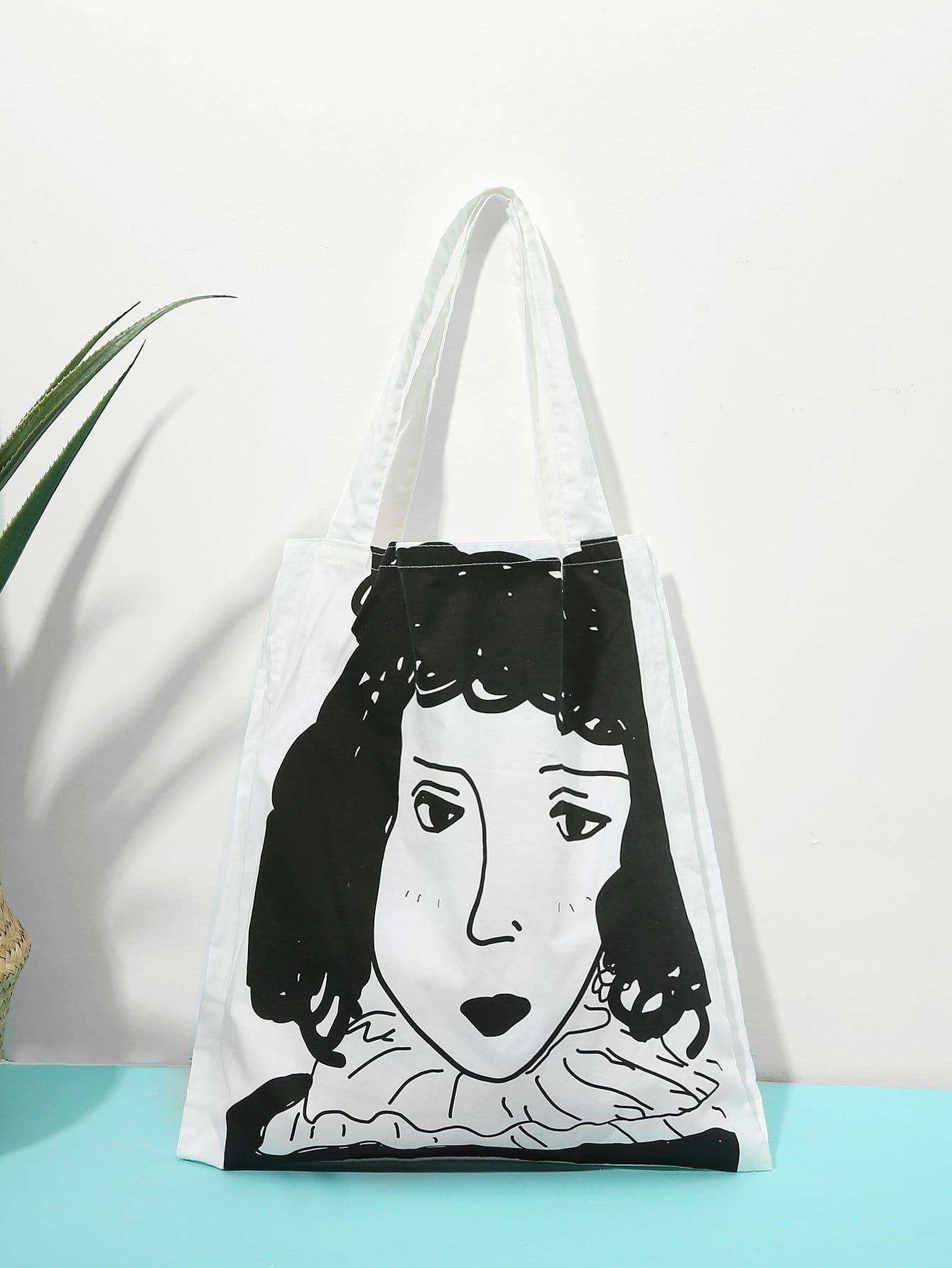 Girl Print Tote Bag heel print tote bag