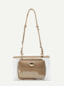 Clear Shoulder Bag With Inner Pouch