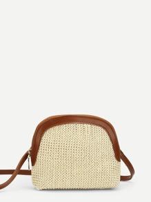 Contrast Trim Crossbody Bag