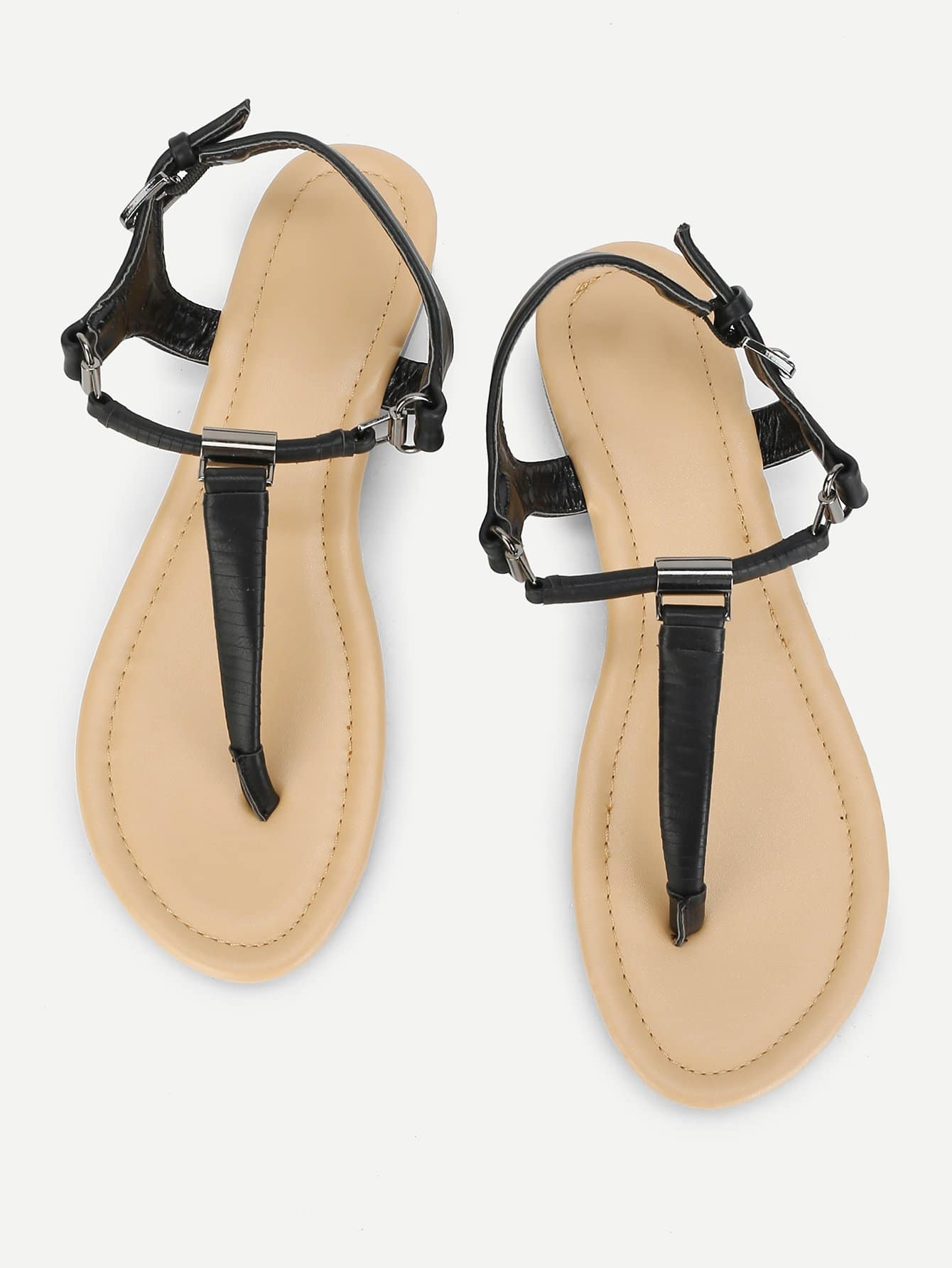 Toe Post Strappy Flat Sandals strappy toe post flat sandals