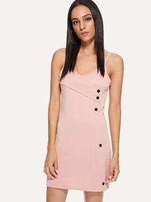 Button Detail Cami Dress