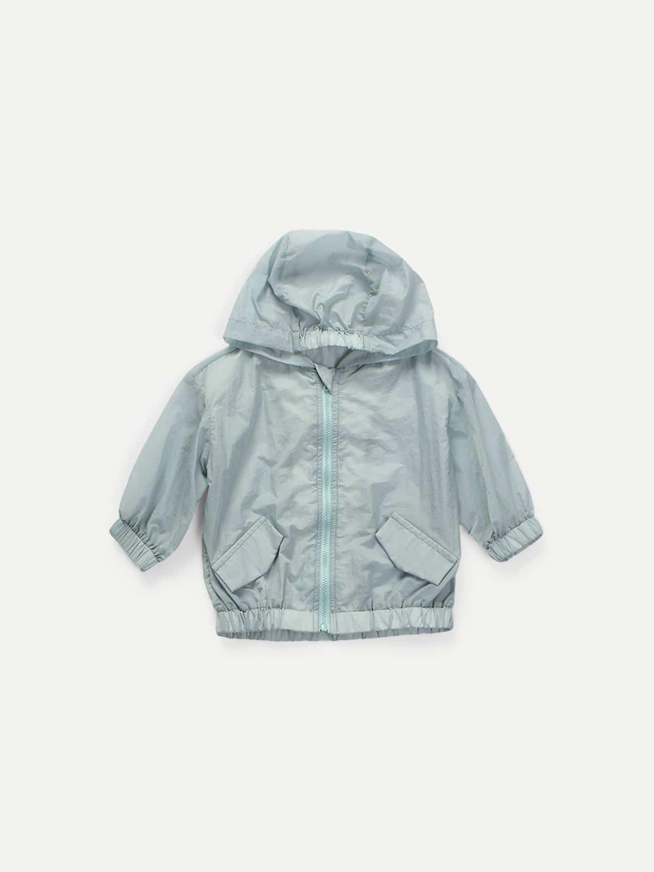 Мальчики Обычная Куртка С Капюшоном