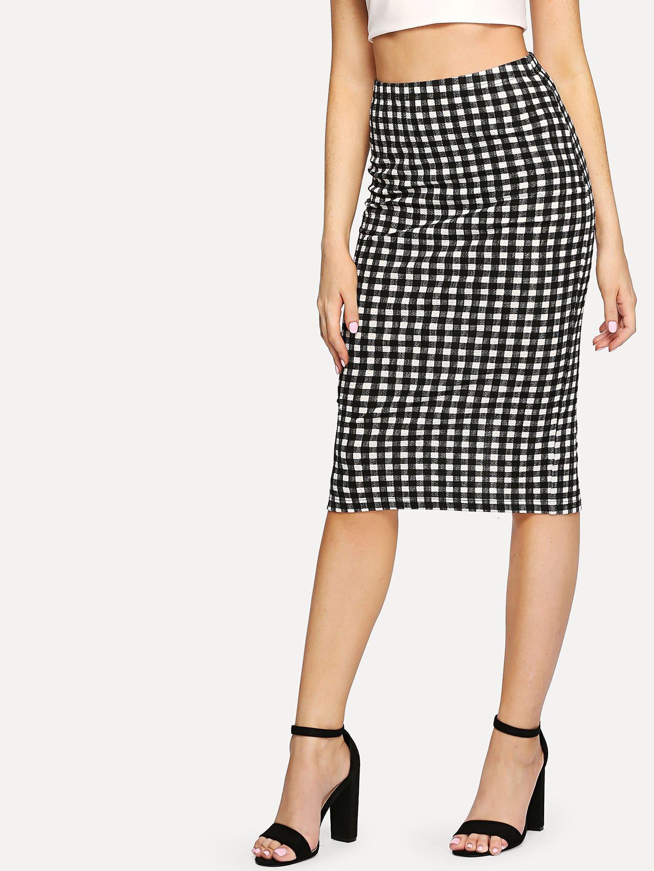 Split Back Plaid Wrap Skirt split back plaid skirt