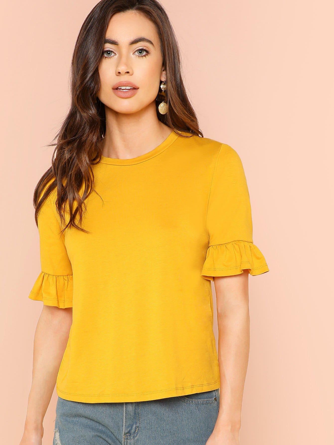 Рубашка с манжетой, Kelli S., SheIn  - купить со скидкой