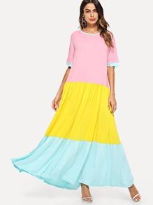 Color Block Longline Dress