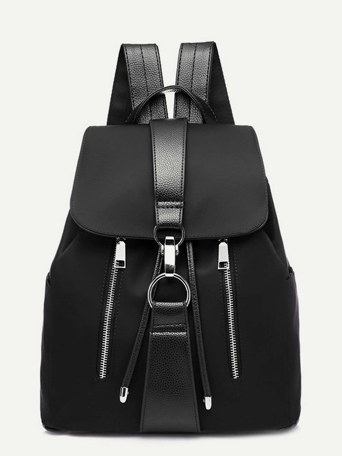 金屬 圓環 裝飾 拉鏈 背包