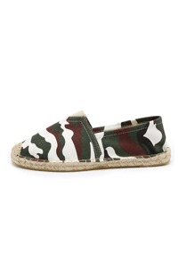 Camouflage Canvas Espadrille Flats