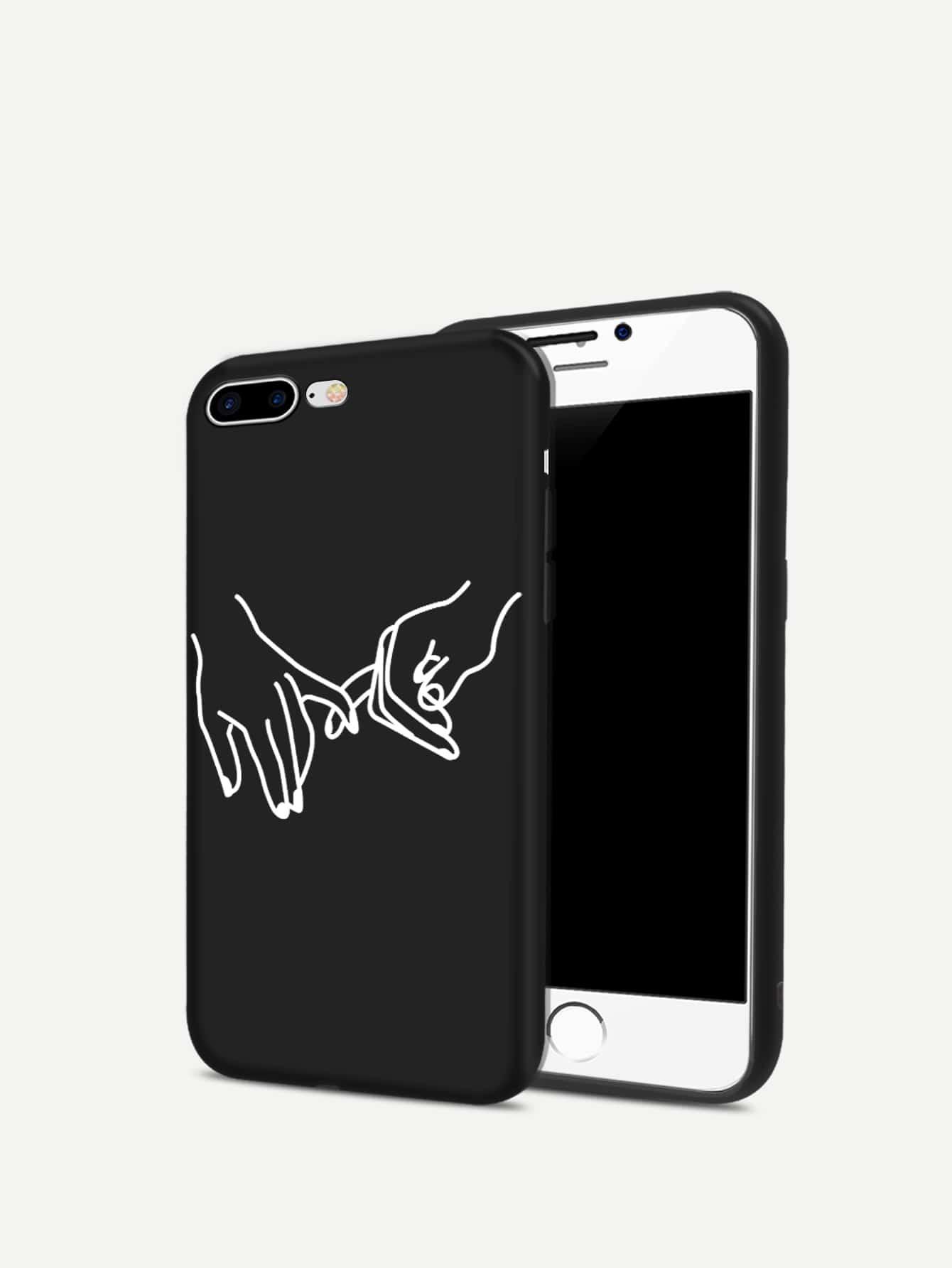 Купить Ручной печати iPhone Case, null, SheIn
