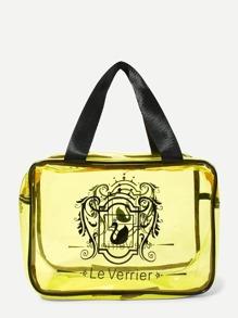Double Handle Clear Makeup Bag