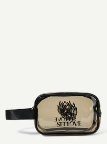 Clear Makeup Bag With Wristlet