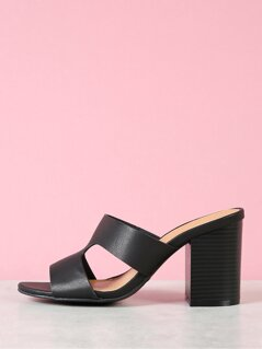 Cut Out Chunky Mule Heel