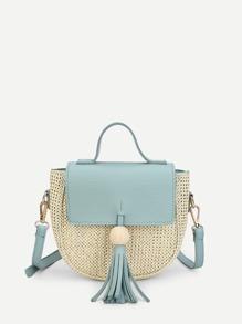 Tassel Decorated Saddle Bag