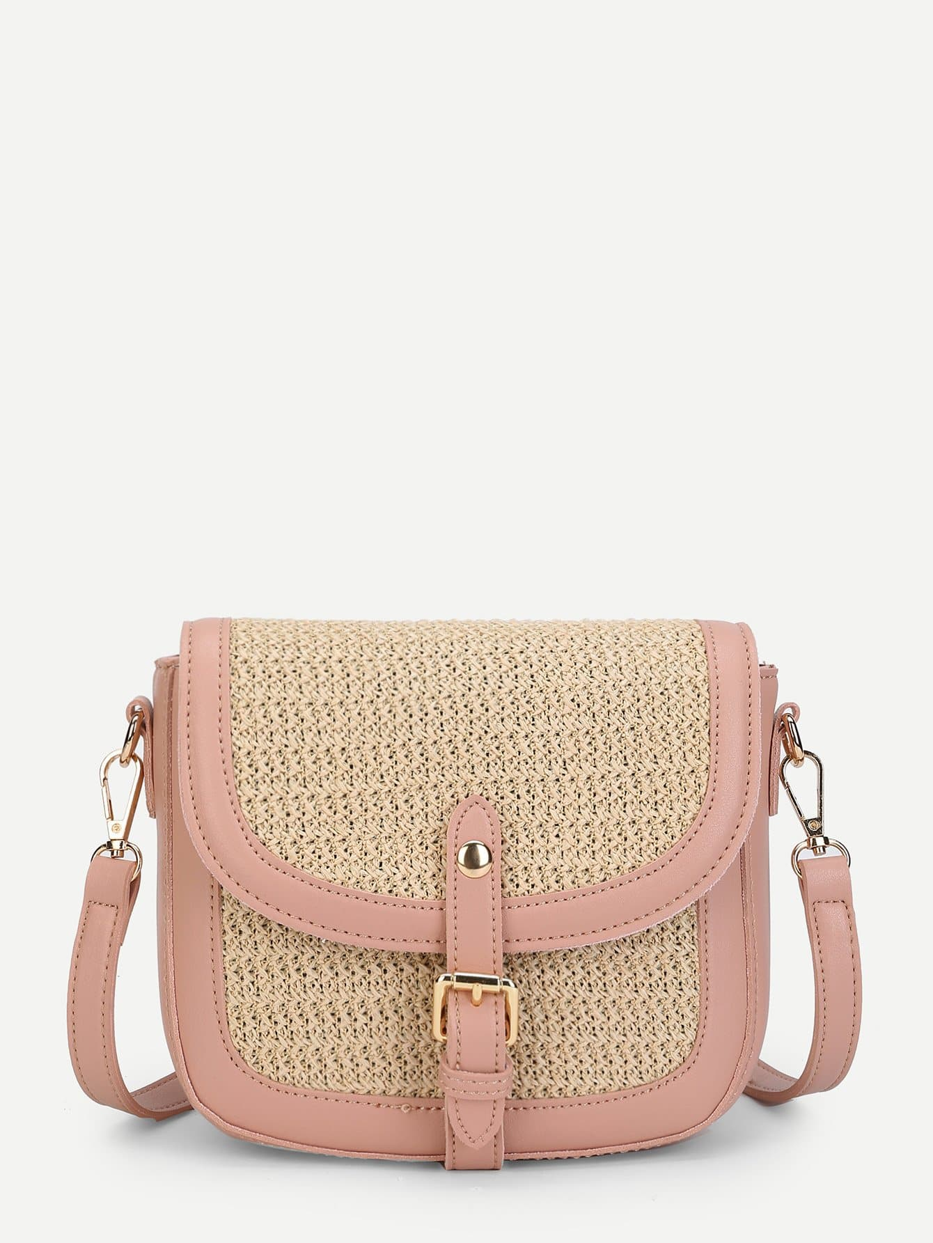 Buckle Front Flap Shoulder Bag ring front flap shoulder bag