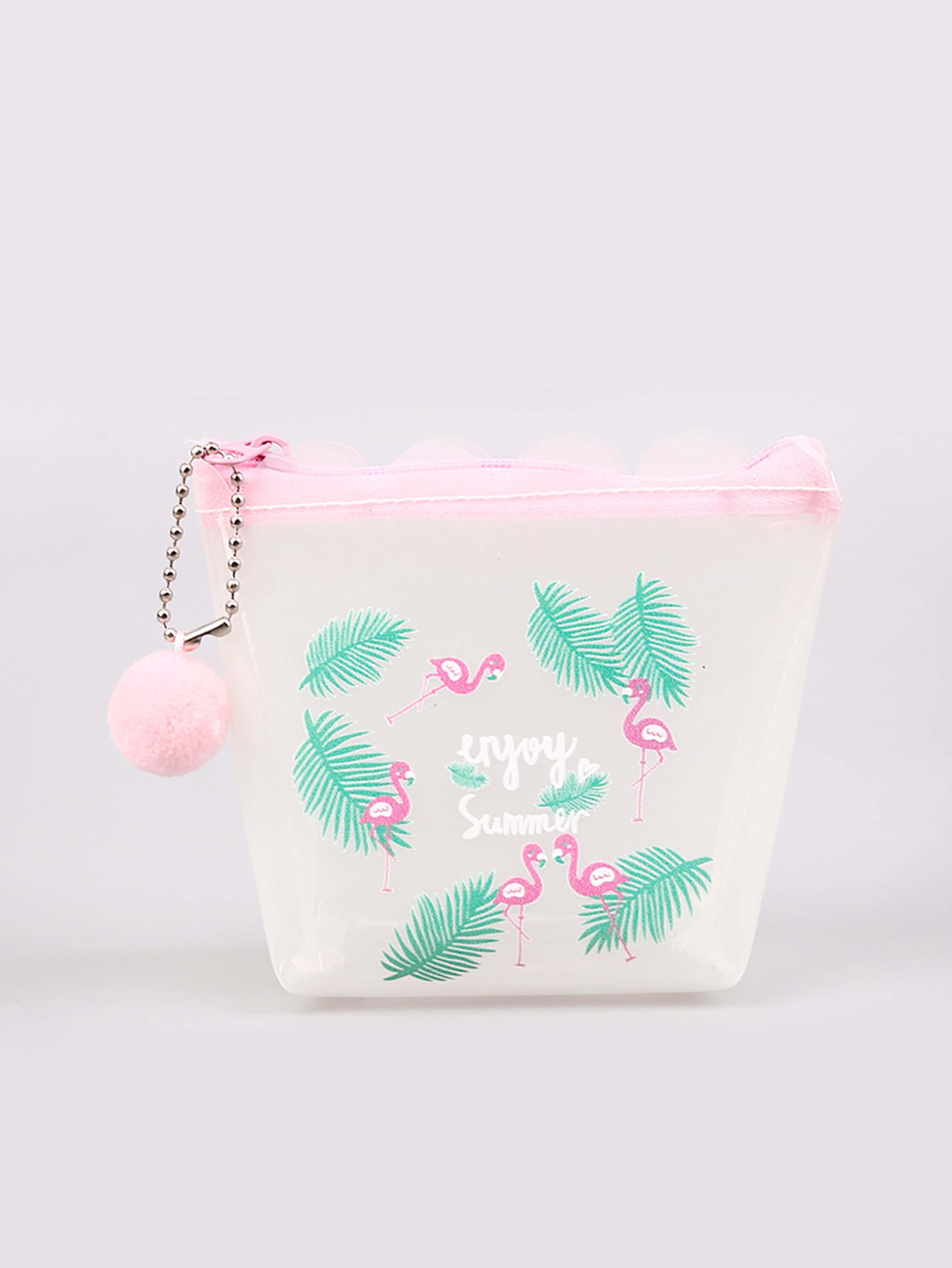 Flamingo Print Coin Purse 2017 cute girls coin purses small coin bag key ring kawaii bag kids mini wallet card holders leather cartoon coin purse1bw73