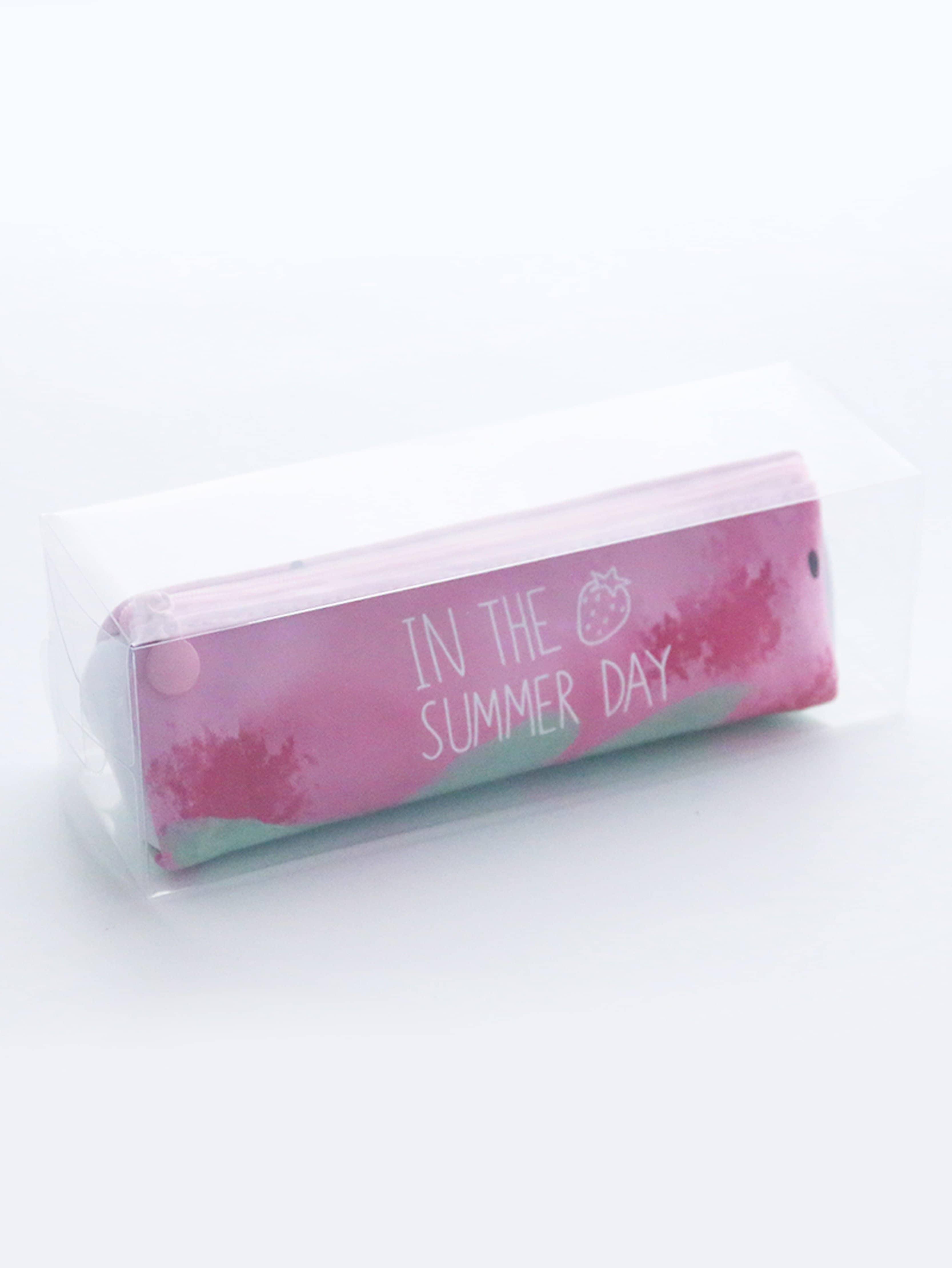 Strawberry Print Pencil Case strawberry overlay pencil case
