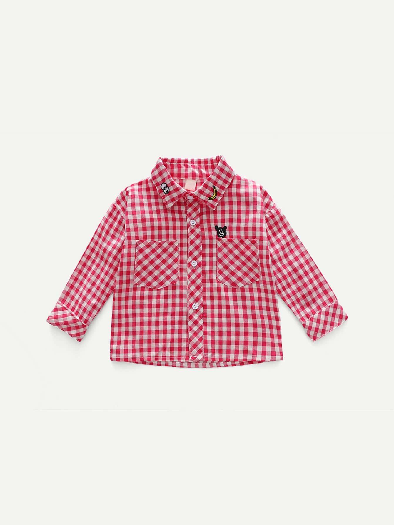 Kids Gingham Blouse kids tie neck gingham blouse