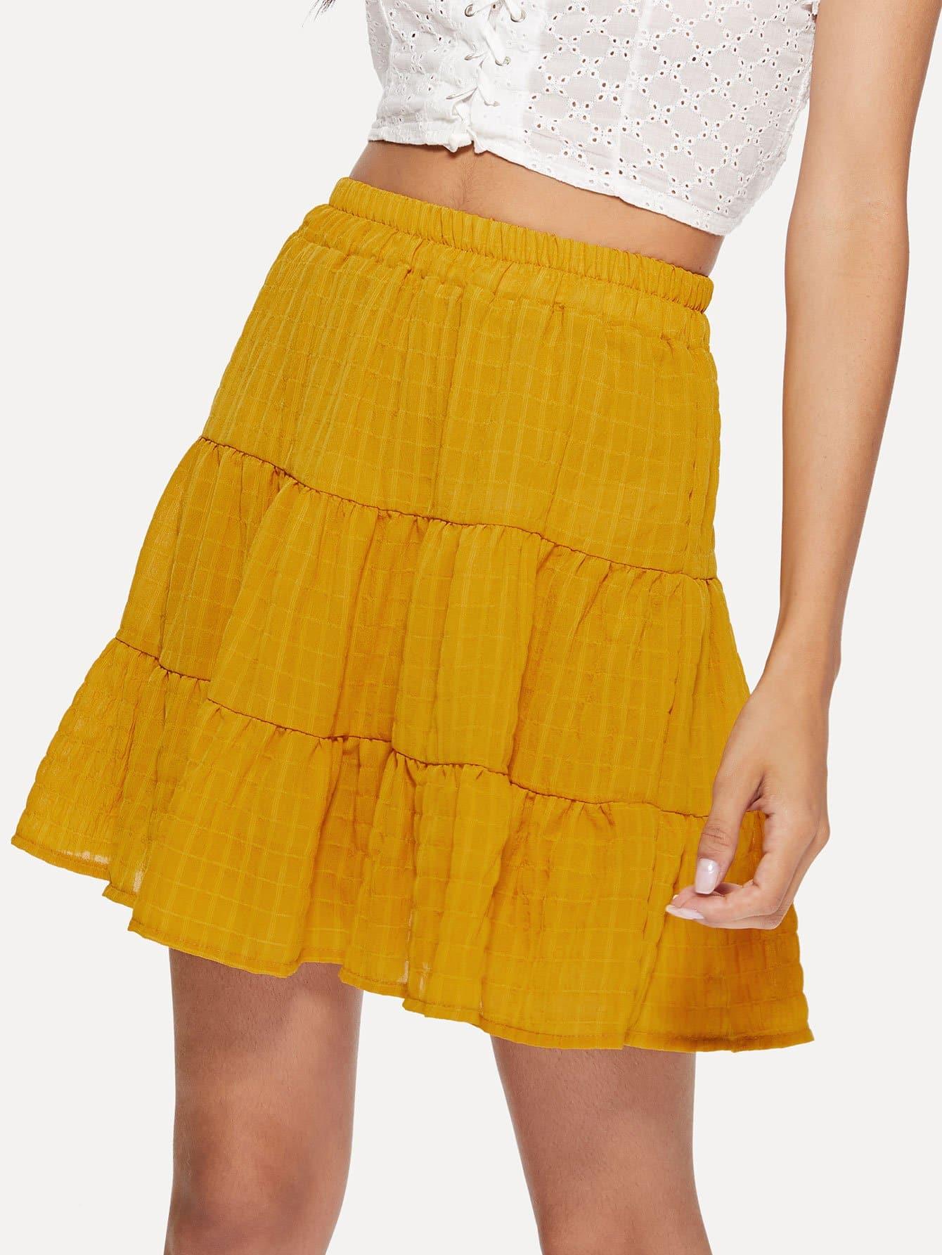 Купить Эластичная юбка-обруч для талии, Kary, SheIn