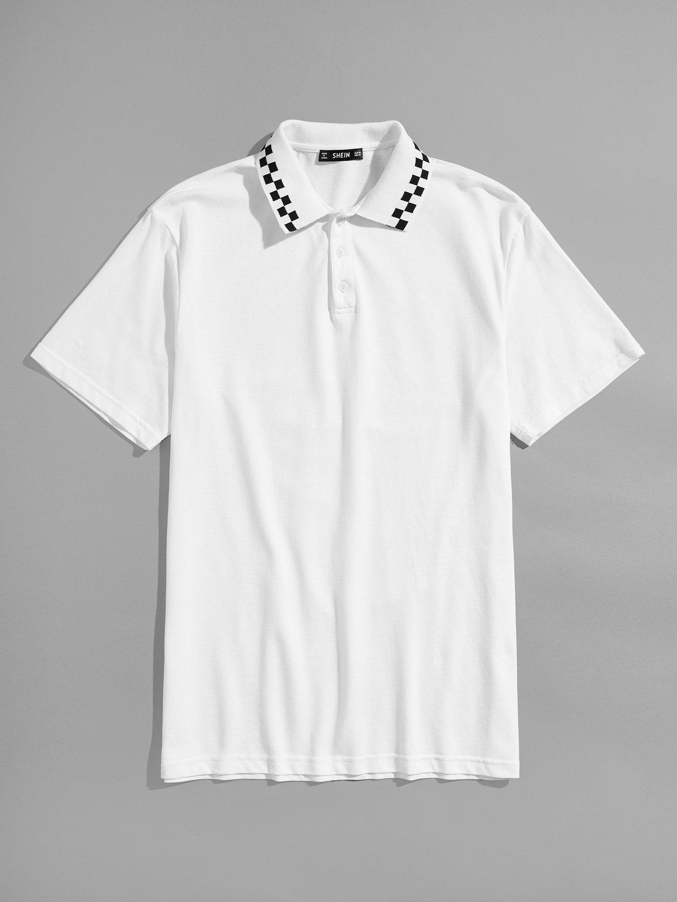Купить Мужская футболка с длинным рукавом, null, SheIn