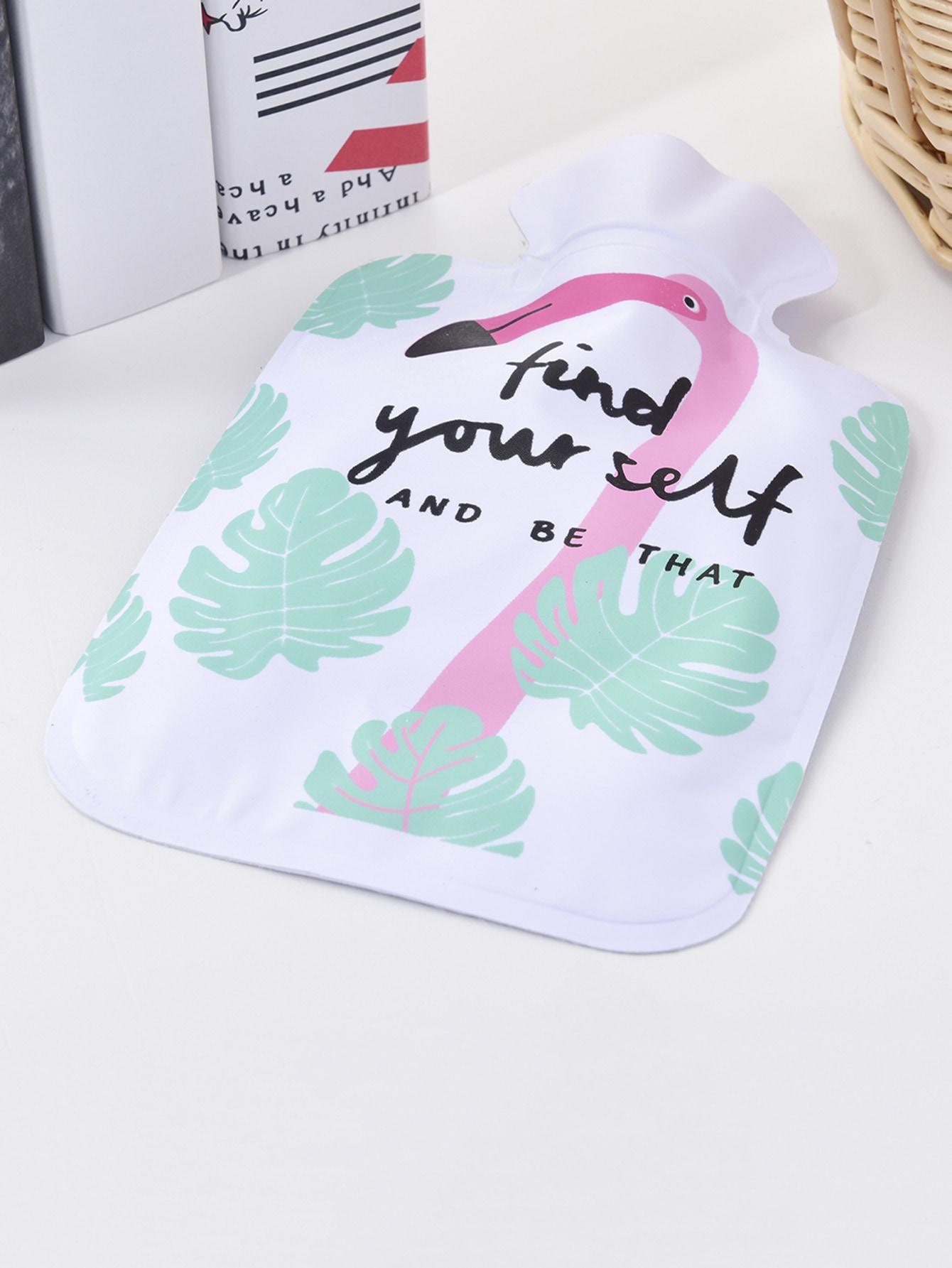 Tropical & Flamingo Print Hot-water Bag