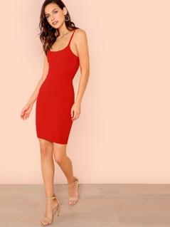 Ribbed Knit Cami Dress