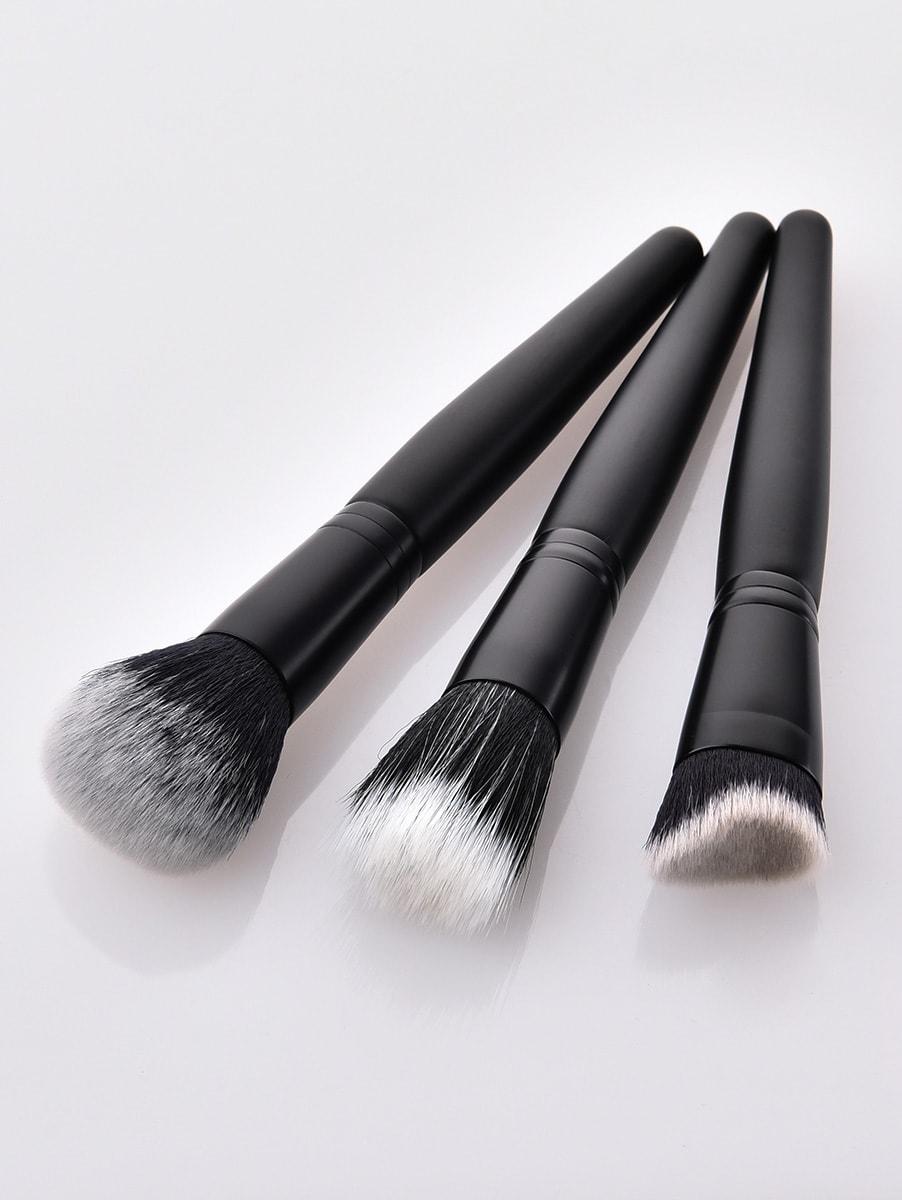 Plain Handle Makeup Brush 3pcs plain headband 3pcs