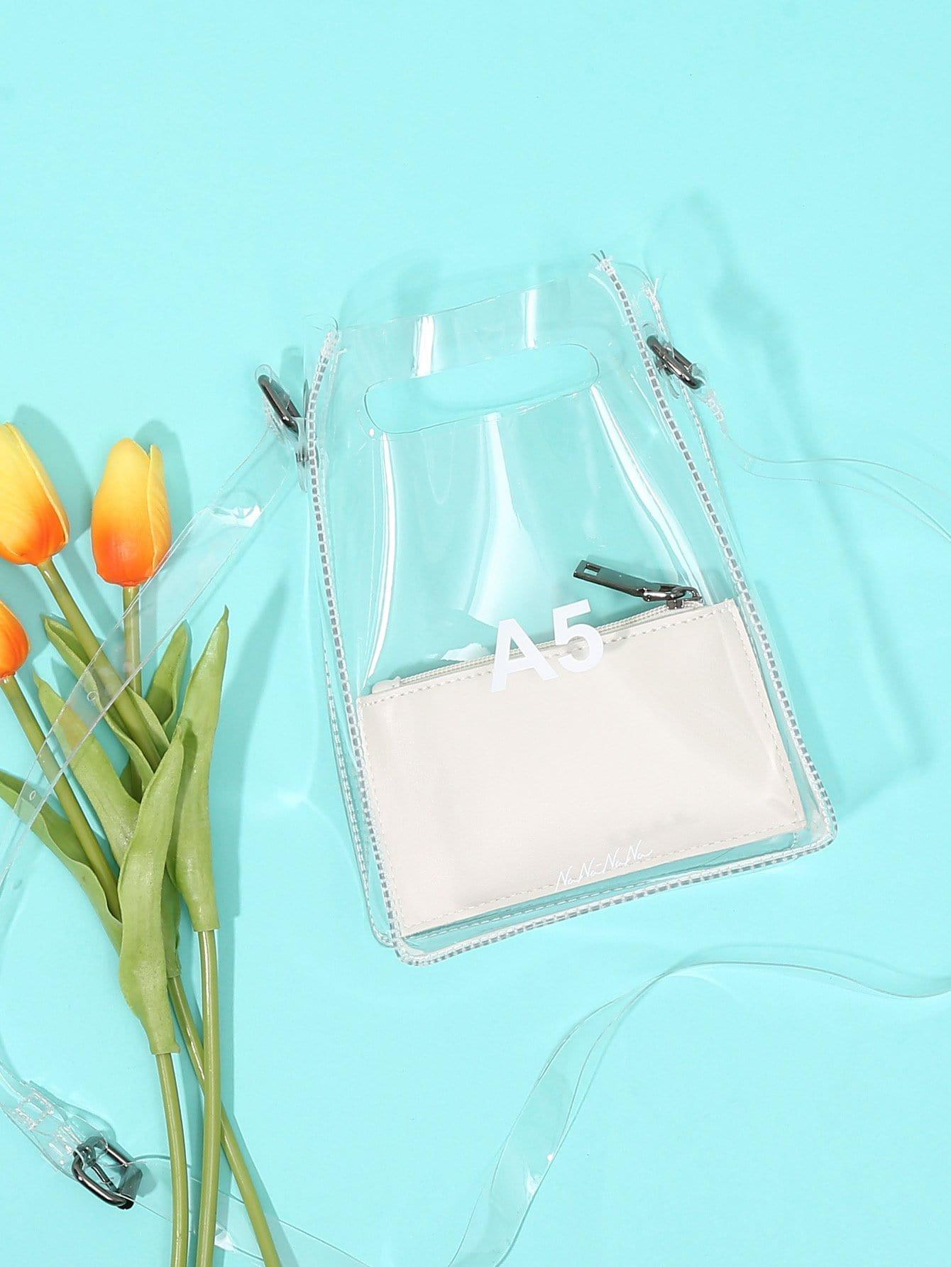 Clear Design Crossbody Bag clear design backpack