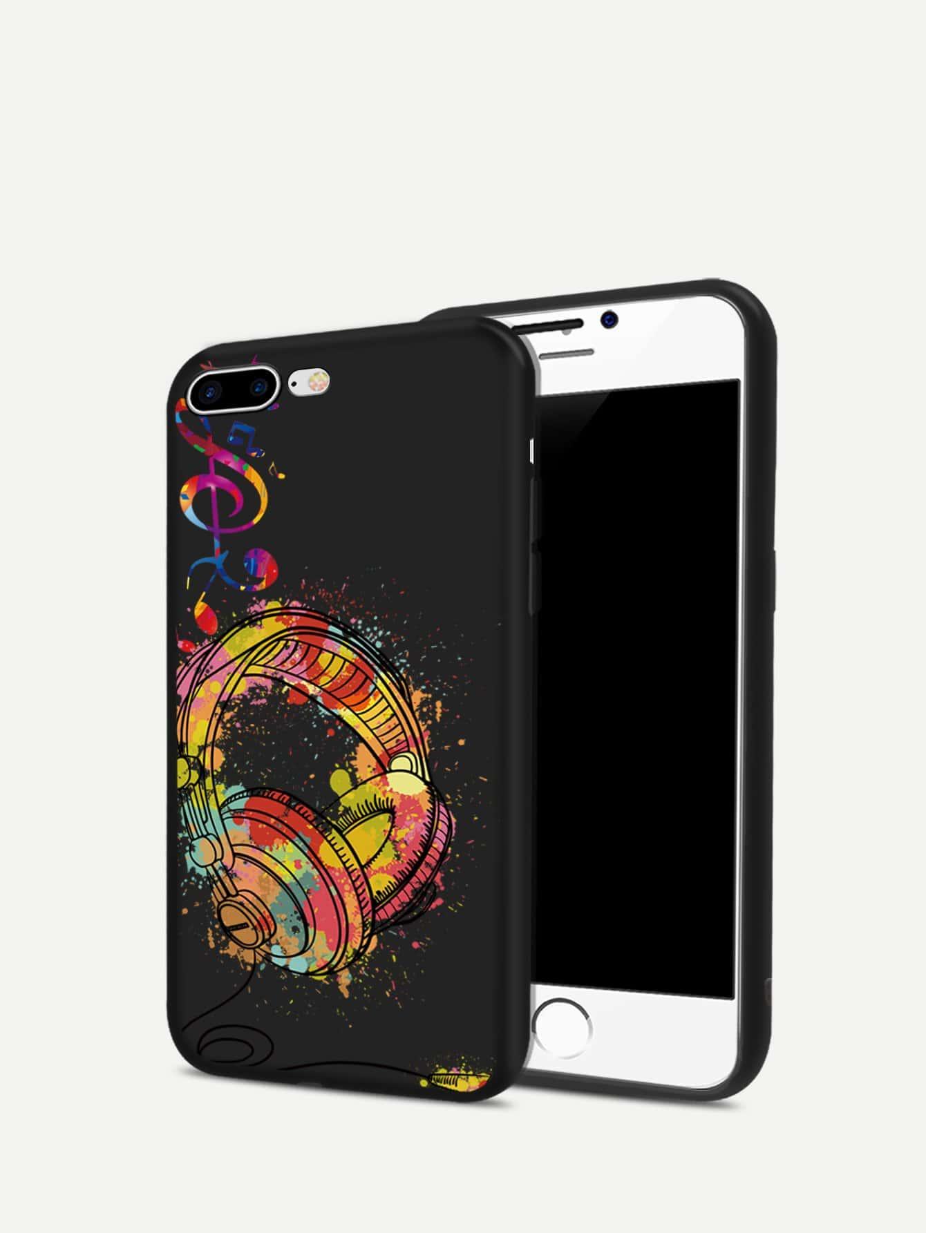 Headphone Pattern iPhone Case