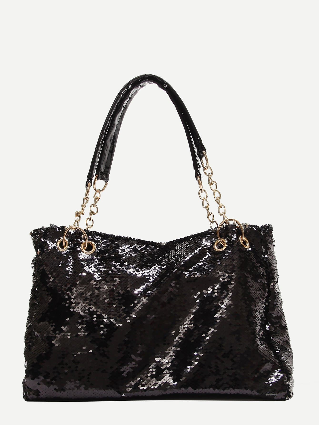 Фото - Sequin Detail Tote Bag sequin tote bag with double handle