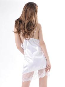 Lace Trim Night Dress With Panty