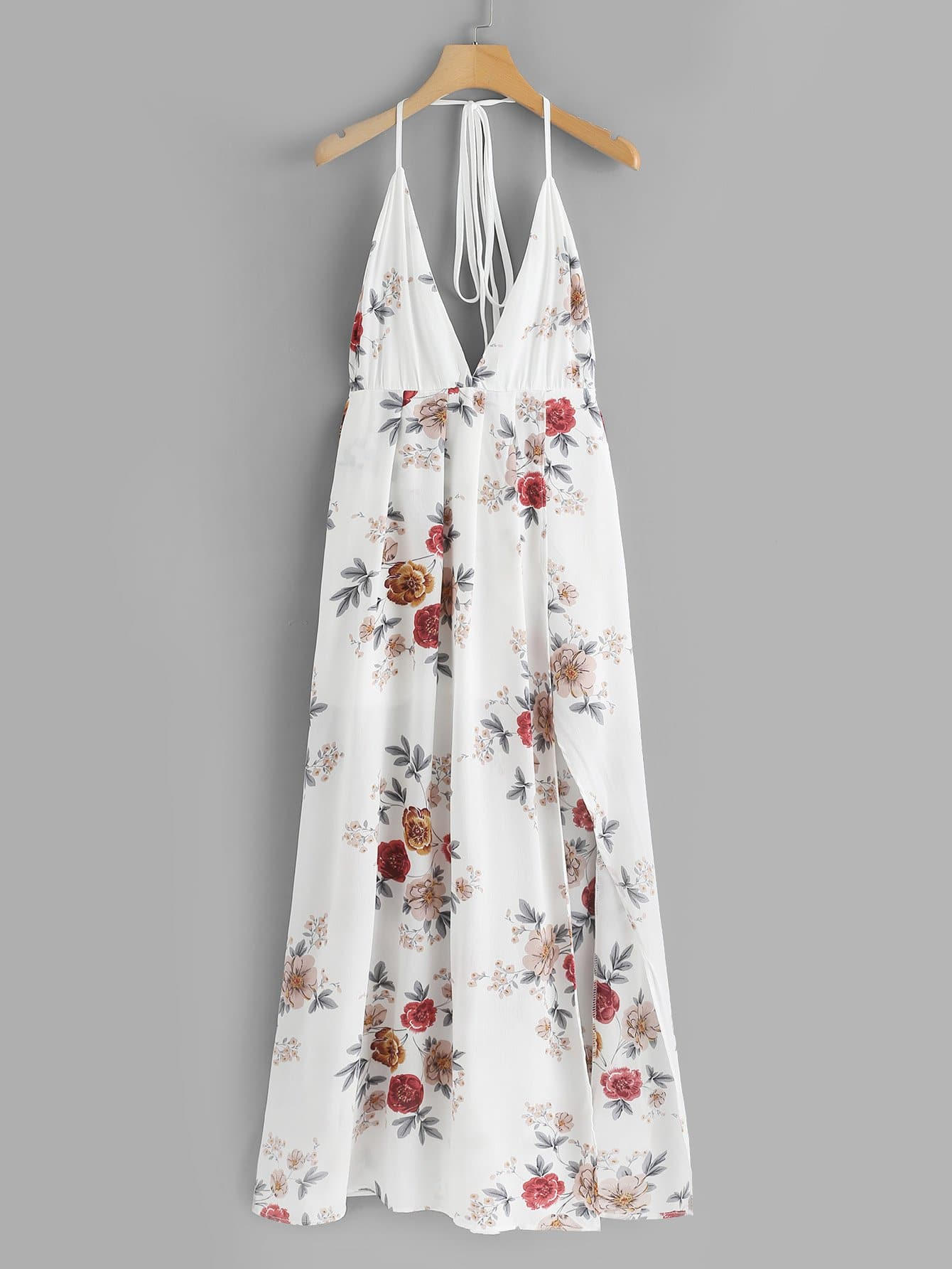 Floral Print Criss Cross Back Dress
