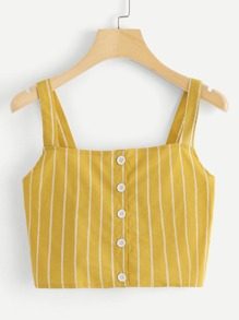 Single Breasted Striped Cami Top