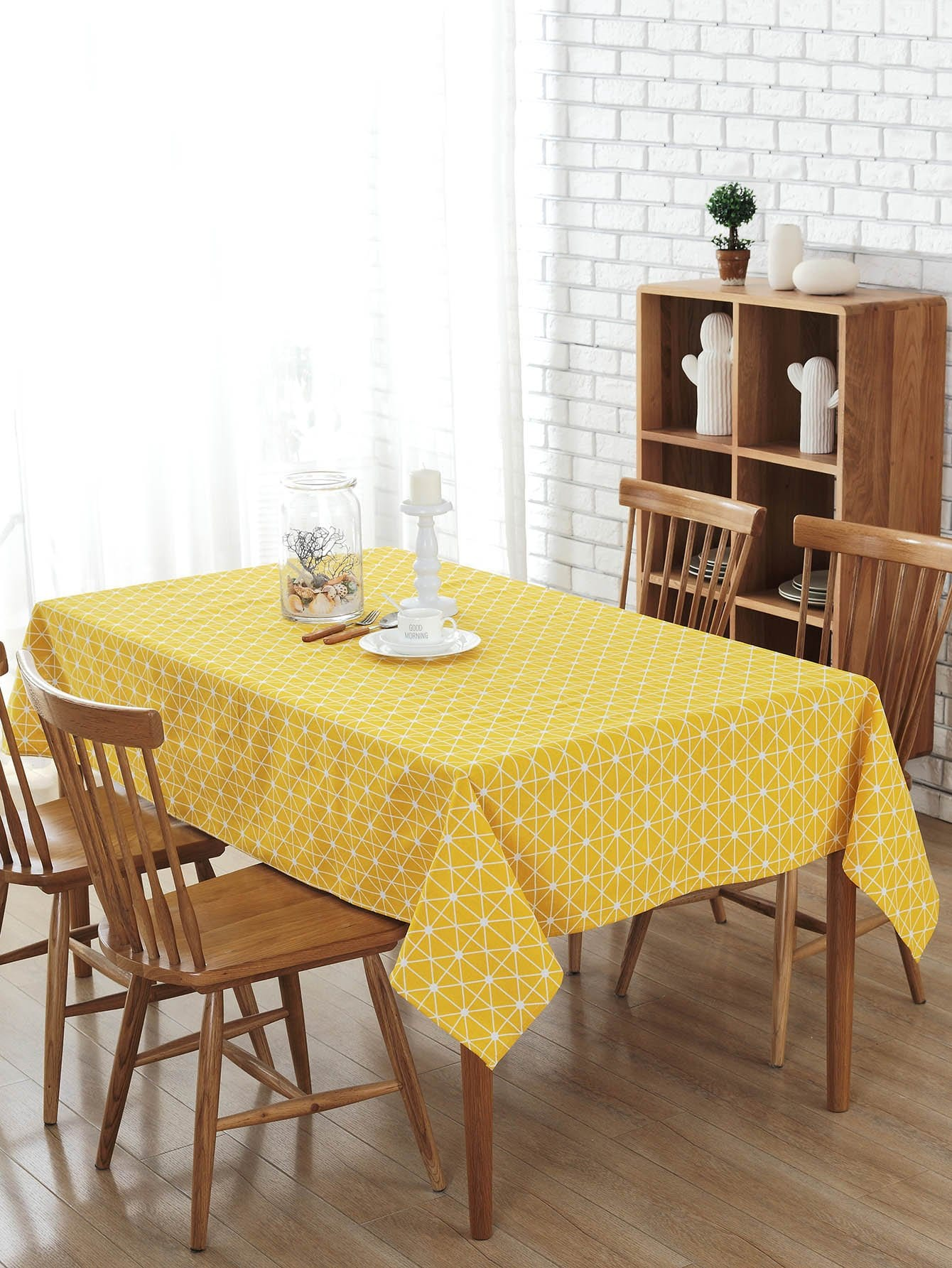 Plaid Print Table Cloth