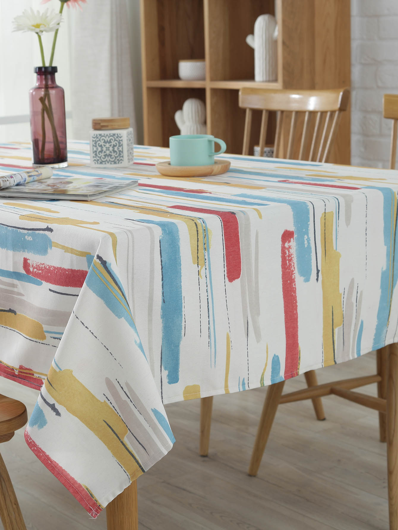 Watercolor Print Table Cloth