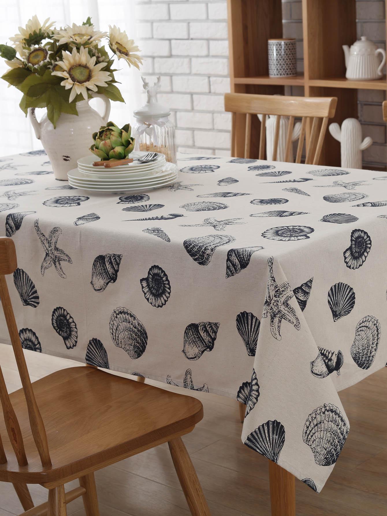 Shell Print Table Cloth