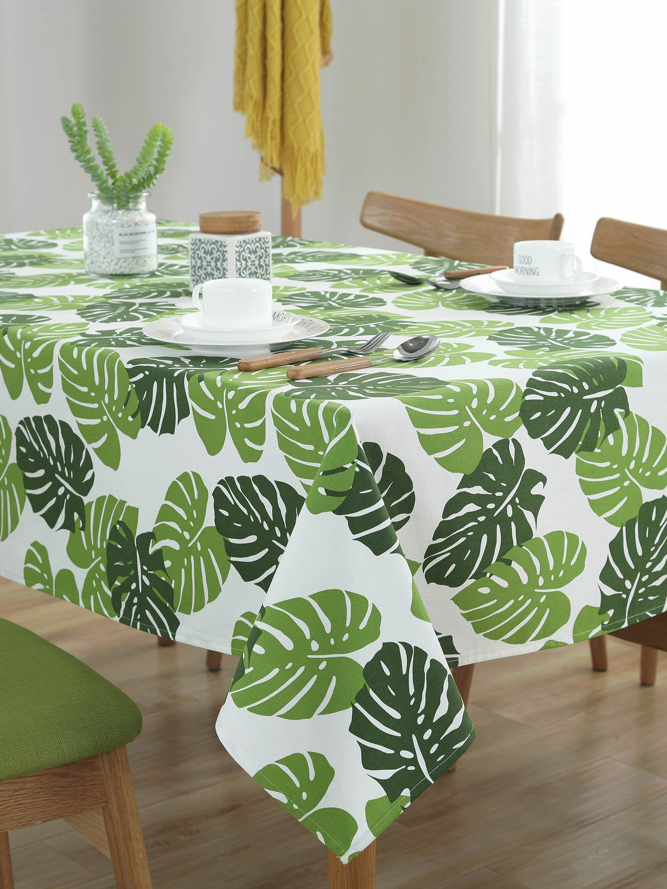 Tropical Print Table Cloth