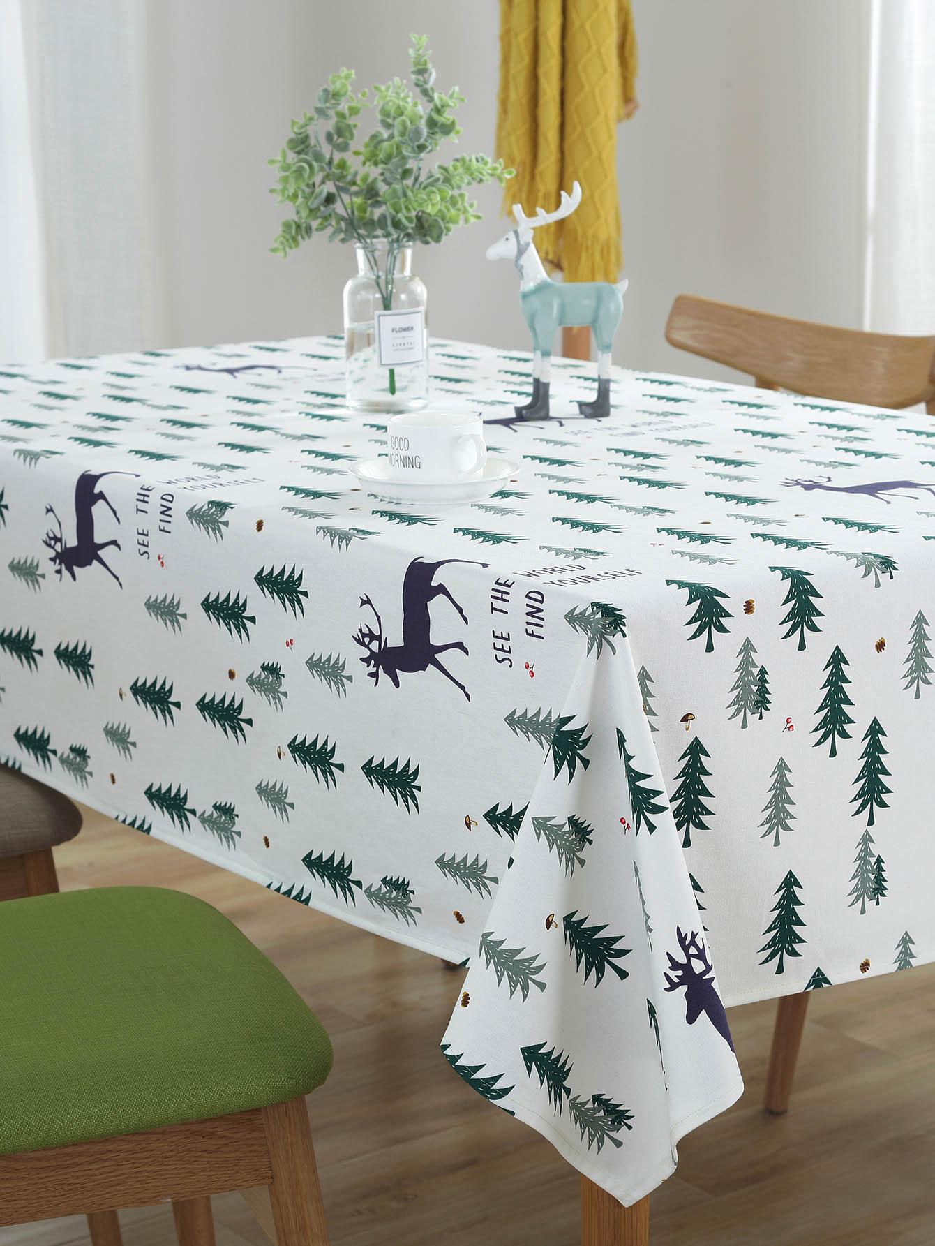 Jungle Print Table Cloth