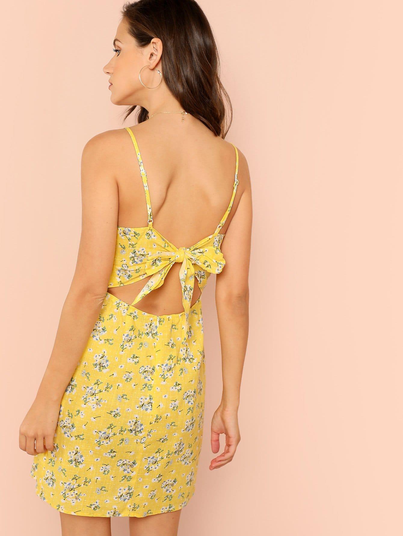 Allover Floral Print Ками платье