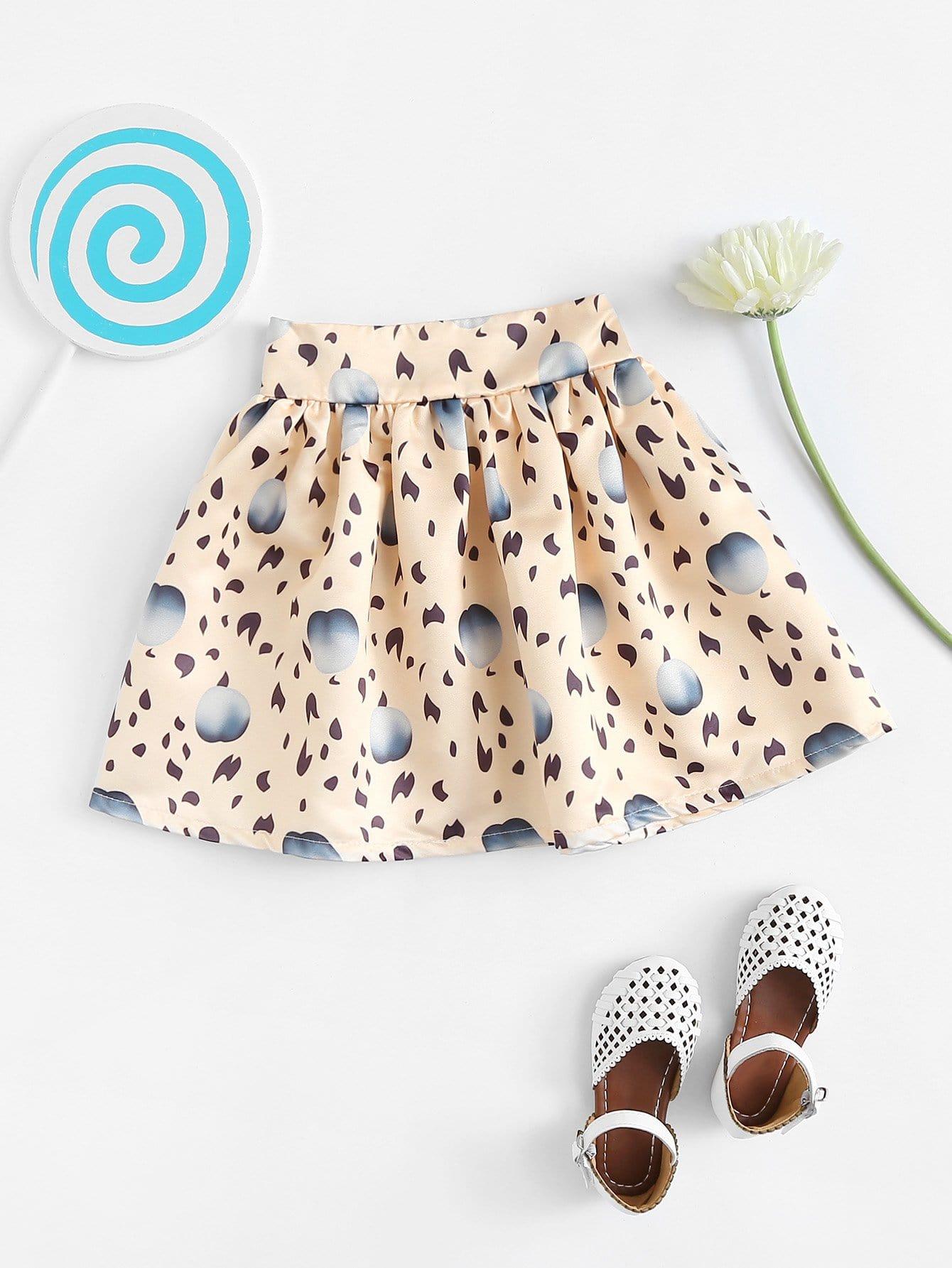 Girls All Over Printed Skirt