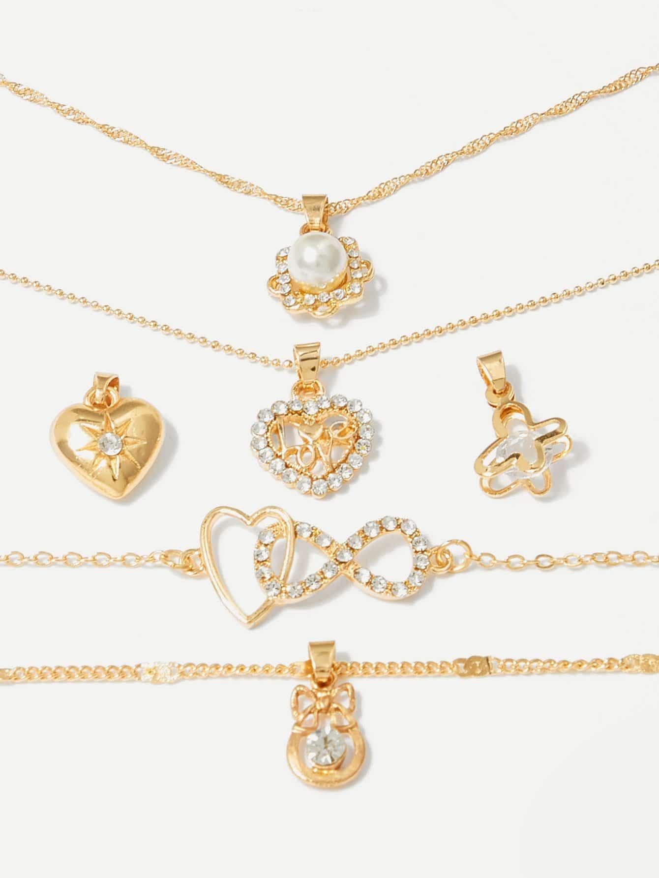 Купить Съемное ожерелье & браслет 2pcs, null, SheIn