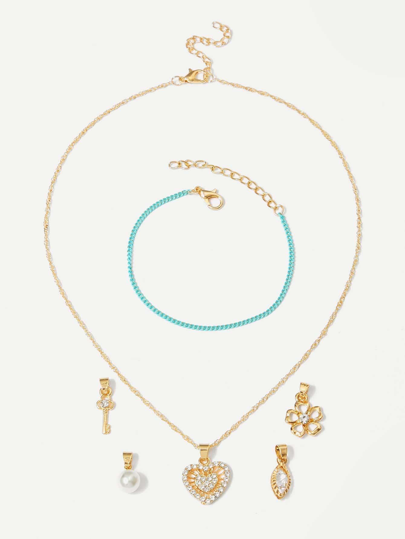 Купить Съемное ожерелье & браслет 1pcs, null, SheIn