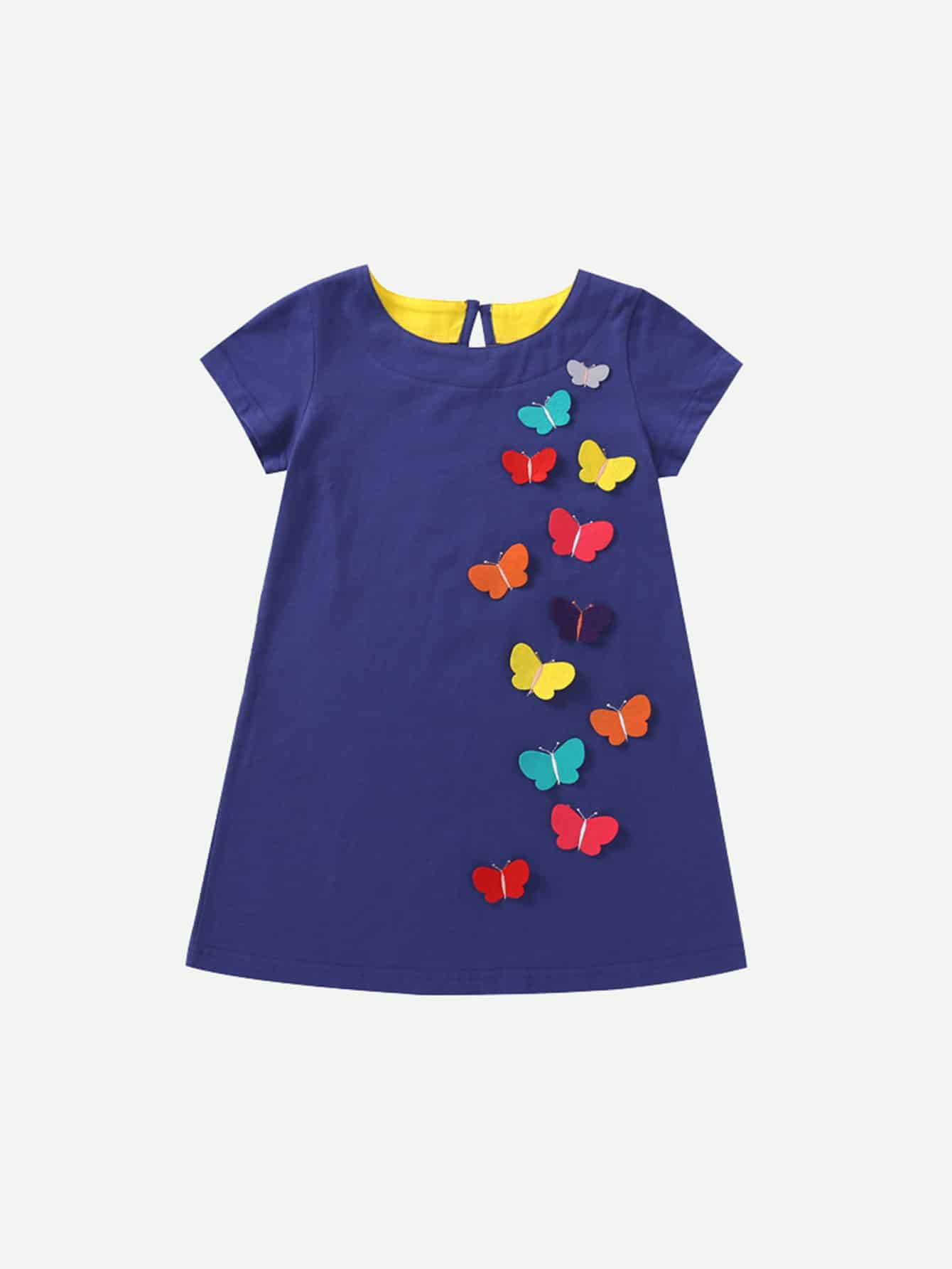 Girls Butterfly Decoration Dress