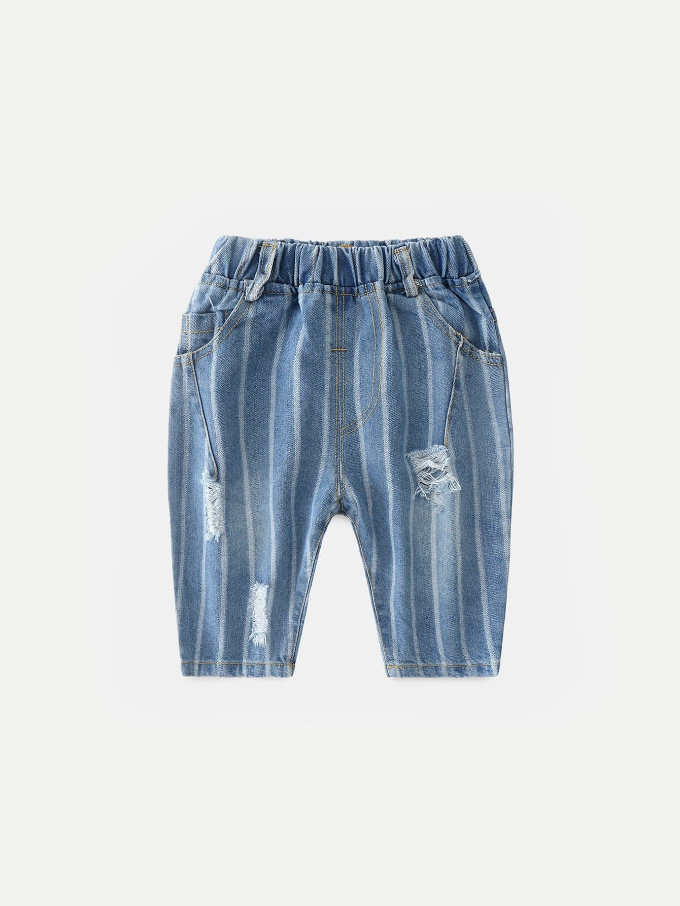 Boys Striped Destroyed Jeans цена 2017