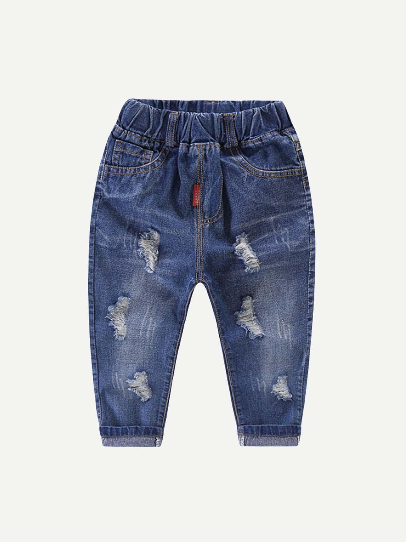 Boys Destroyed Roll Hem Jeans цена 2017