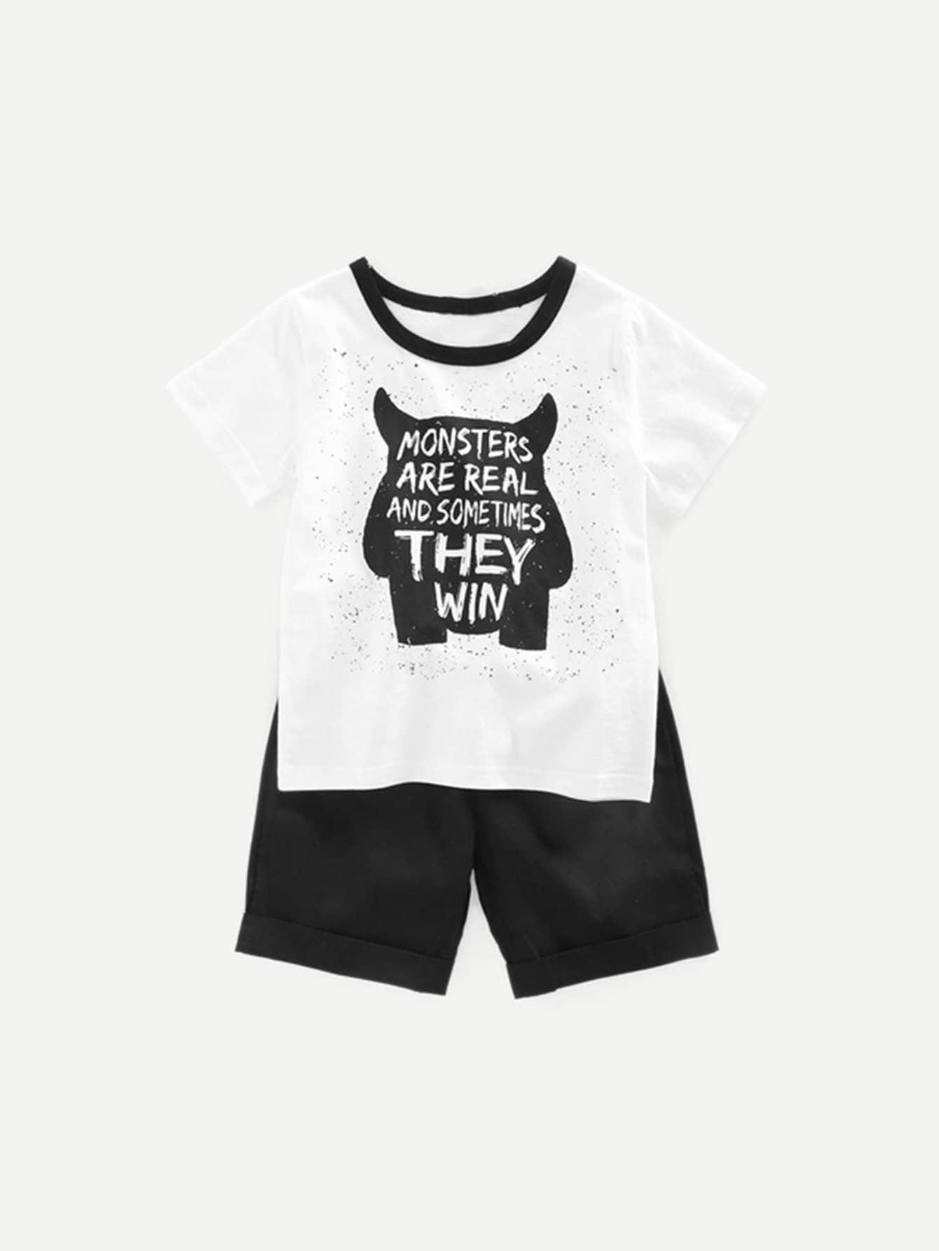 Купить Тройник для письма для детей с короткошерстными шортами, null, SheIn