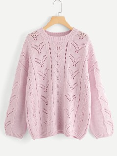 Loose Knit Eyelet Insert Jumper