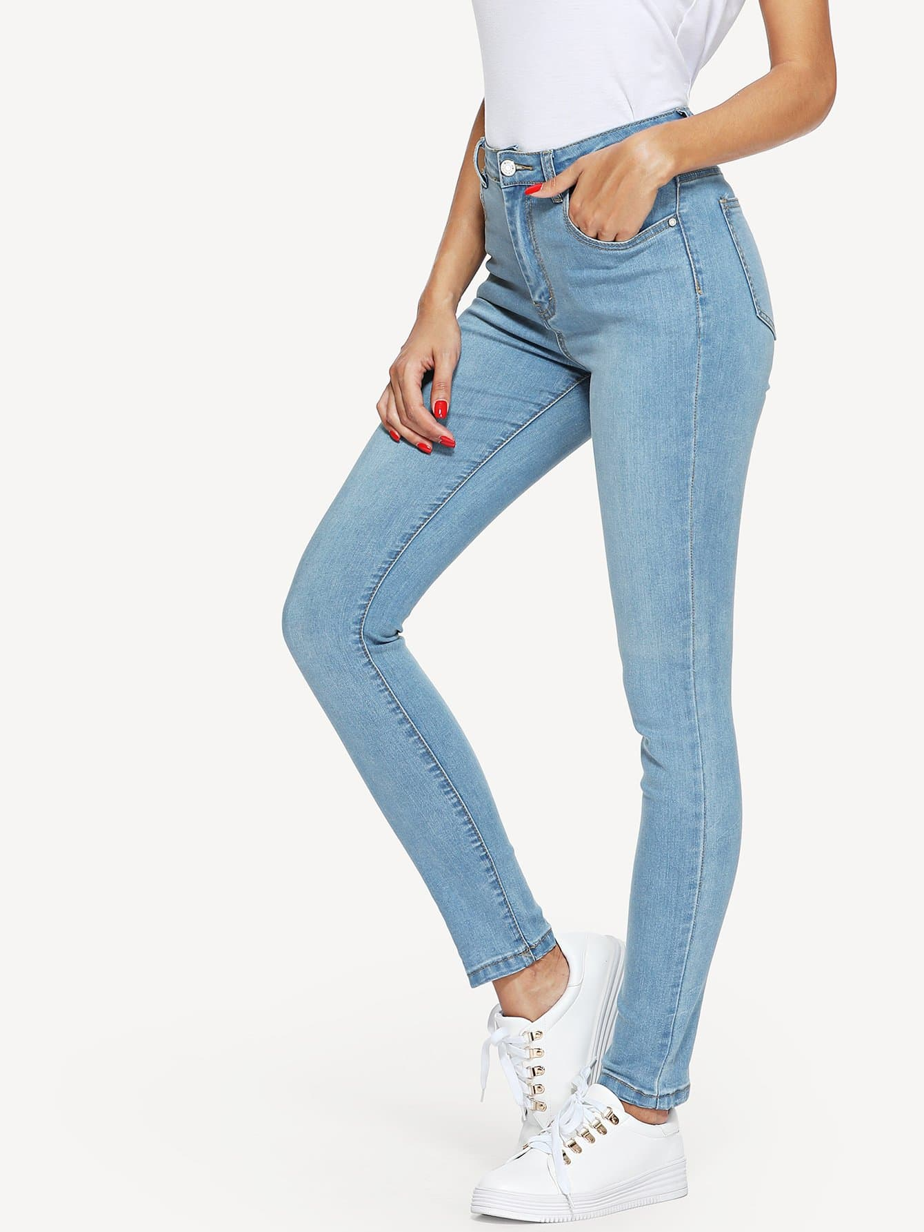 Skinny Solid Jeans