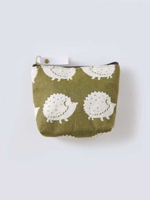 Hedgehog Print Coin Purse