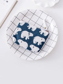 Polar Bear Print Coin Purse